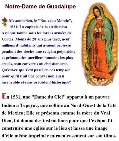 Prière à Notre-Dame de Guadalupe Guadalupe